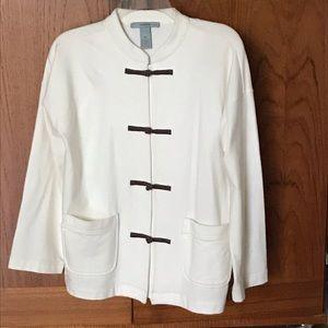 Jacket . Unlined cotton knit
